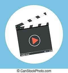 Clapper board icon.