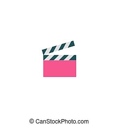 Clapper board Icon Vector
