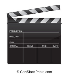 Clapper board illustration