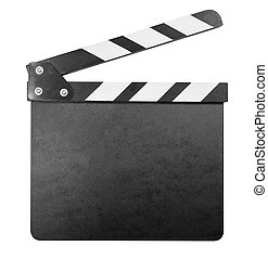 Clapper board isolated with clipping path included