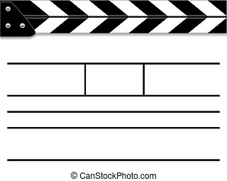 Clapper board or slate white board