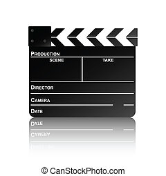 clapper board reflection 2