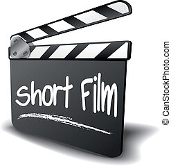 Clapper Board Short Film - detailed illustration of a ...