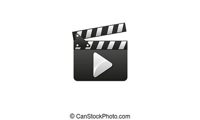 Clapper board, Soccer animation - Clapper board cinema,...
