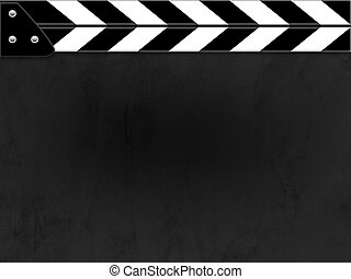 Clapper board or slate black board with texture