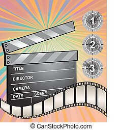Clapper board, vector illustration