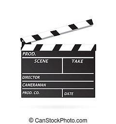 Clapper Board, Vector Illustration