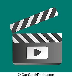 Clapper board vector illustration.