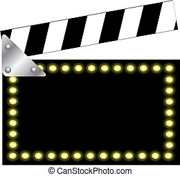 Clapper board with lights