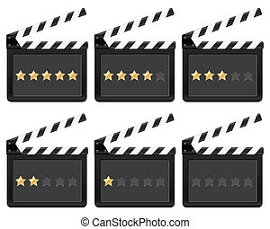 clapper board with stars