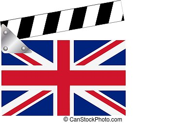 Clapper board with Union Jack