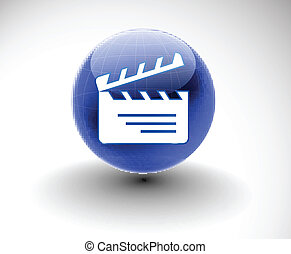 clapper boards web icon