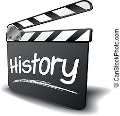 clapper bord, geschiedenis