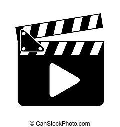 clapper clapperboard film icon