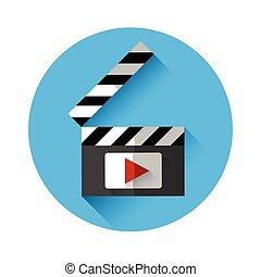 Clapper Film Industry Concept Flat Vector Illustration