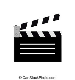 clapper film movie icon design