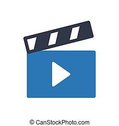 clapper glyph color icon