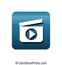 clapper media player isolated icon