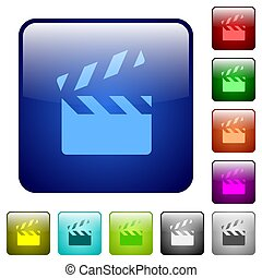 Clapperboard color square buttons