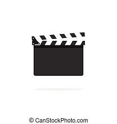 Clapperboard empty template vector icon isolated on white background