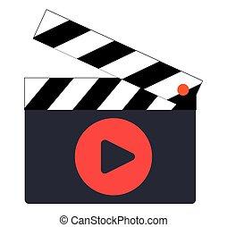 Clapperboard Icon Design