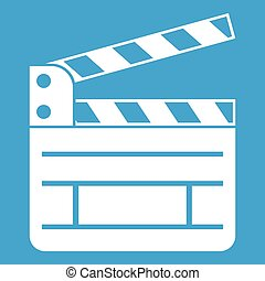 Clapperboard icon white