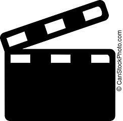 Clapperboard - movie cinema icon