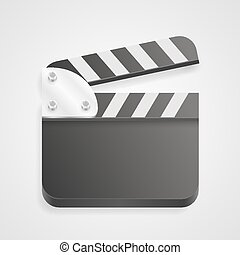 Clapperboard on a white background