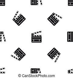 Clapperboard pattern seamless black
