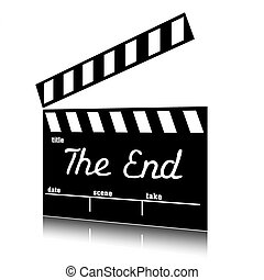Clapperboard the end clip art. - Clap film of cinema the...