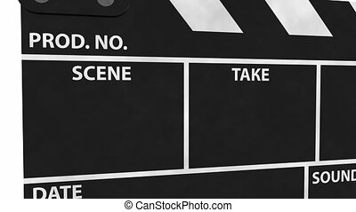 Clapperboard with Alpha Channel - Clapperboard with Alpha...