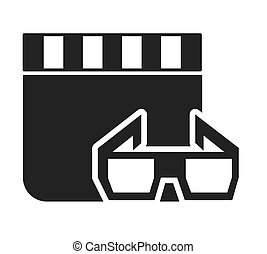 clapperboard with cinema icon