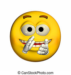 Illustration of an emoticon clapping his hands isolated on a white background