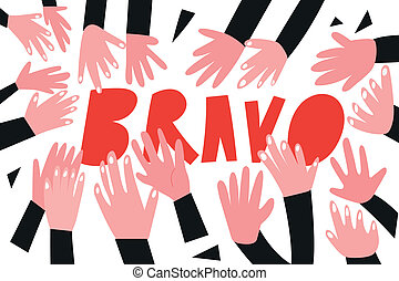 clapping hands, applause - simple vector illustration cartoon