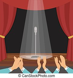 Clapping Of Spectators Illustration