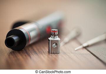 clapton, csöpög, kanthal, e-cig, felteker, vaporizer