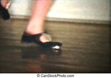 claquettes, (1958), haut fin, girl