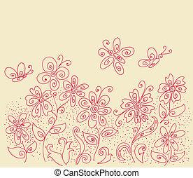 clareira, teste padrão flor