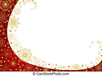 Christmas frame with gold stars