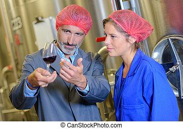 claridad, observar, wine's