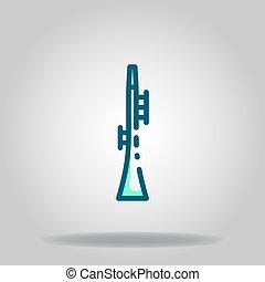 clarinet icon or logo in  twotone - Logo or symbol of ...