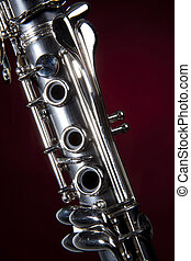 Clarinet Isolated Red Spotlight - A soprano clarinet...