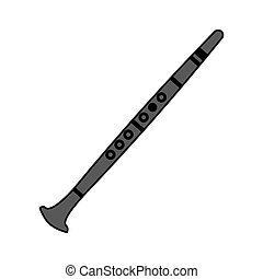 clarinet musical instrument on white background
