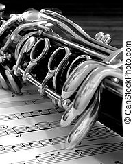 Clarinet - A close-up of a clarinet