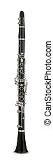 Clarinet musical instrument isolated on white
