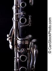 Clarinet - Low key shot of a clarinet