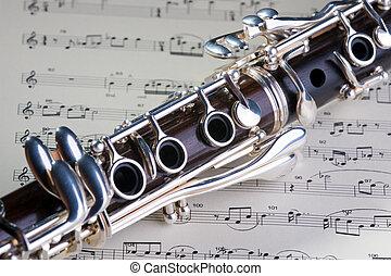 Clarinet - Wooden wind musical instrument clarinet....
