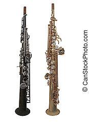 clarinet isolated under the white background