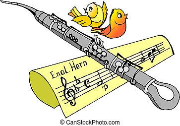 clarinete, música instrumento