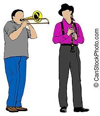 clarinete, trombone